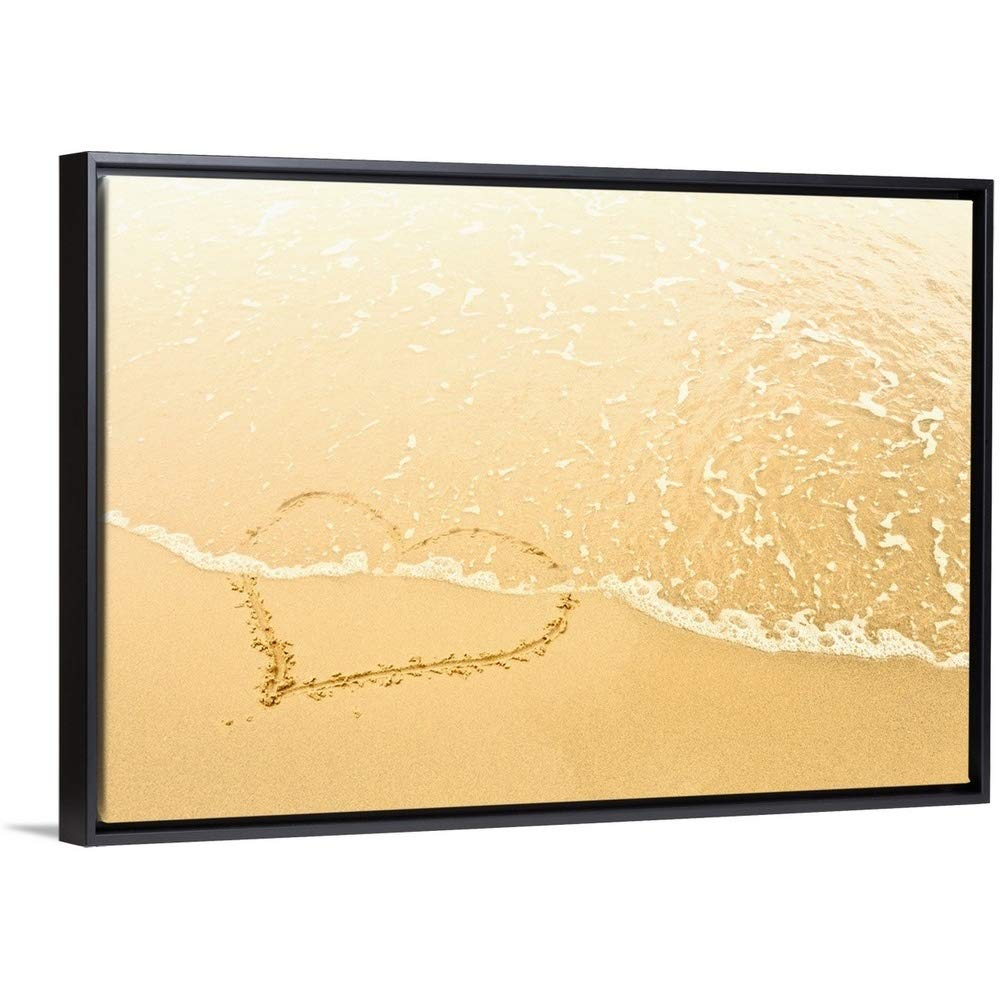 1000x1000 Floating Frame Premium Canvas With Black Frame Wall