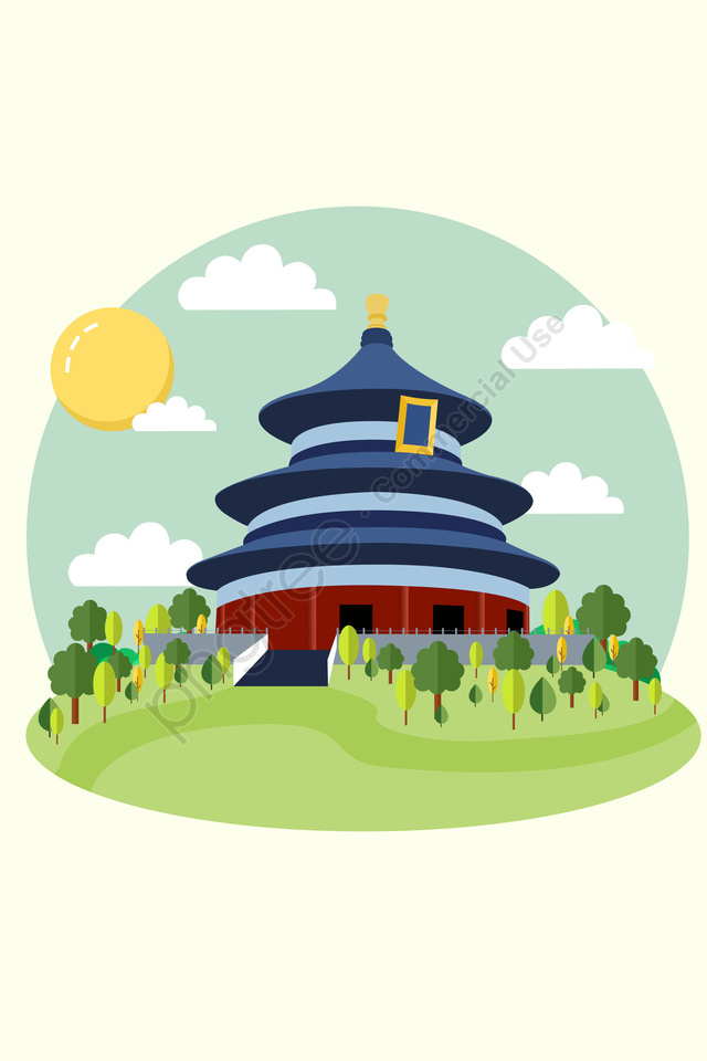 640x960 hand painted building forbidden city world famous illustration