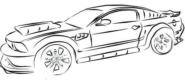 600x274 ford mustang coloring pages ford mustang gt coloring