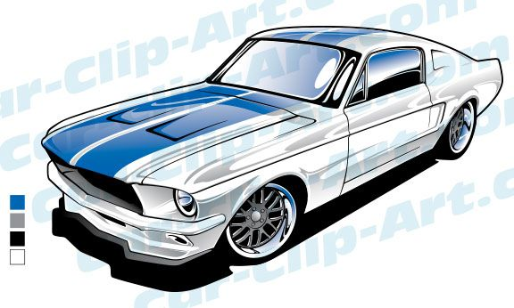576x346 ford mustang vector art automotive art mustang