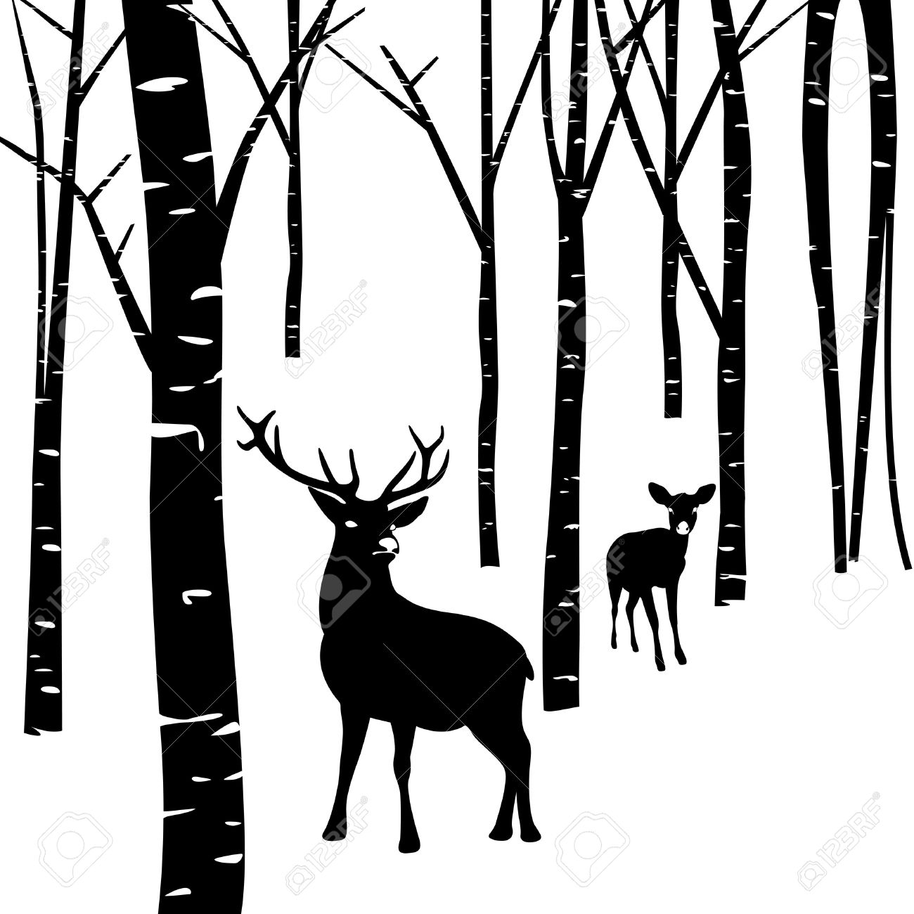 1300x1300 Forest Clipart Silhouette