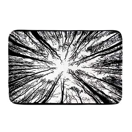 425x425 Hugs Idea Forest Tree Black And White Doormat Vintage