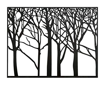 425x341 Zeckos Shadow Forest Decorative Tree Silhouettes Metal