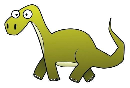 520x353 Easy Dinosaur Drawing Cartoon Dinosaurs Easy Dinosaur Fossil