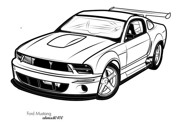 Fox Body Mustang Drawing