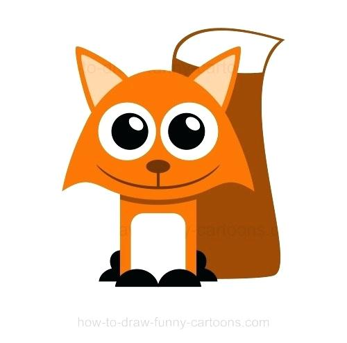 500x494 Fox Drawing Cute Fox Cartoon Fox Drawing Easy