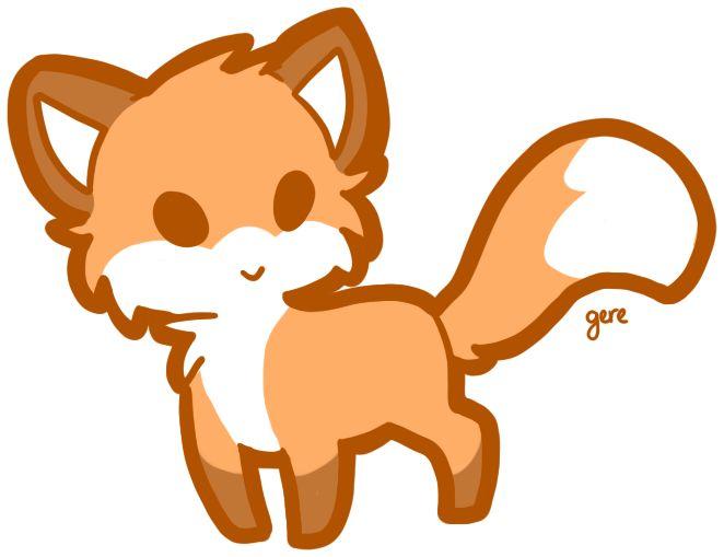 662x509 Fox Drawings Cute