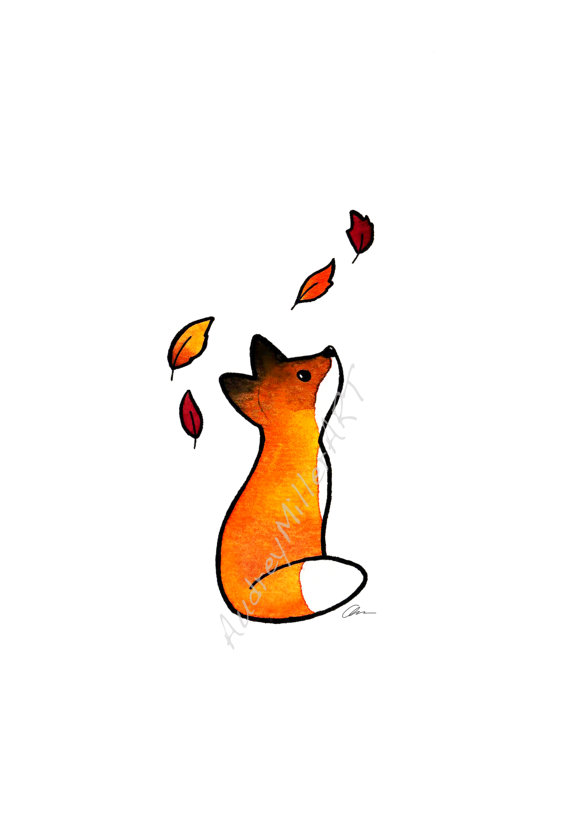 570x826 The Fox And The Leaves
