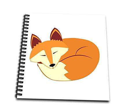 425x386 Db Cute Sleeping Red Fox Drawing Book
