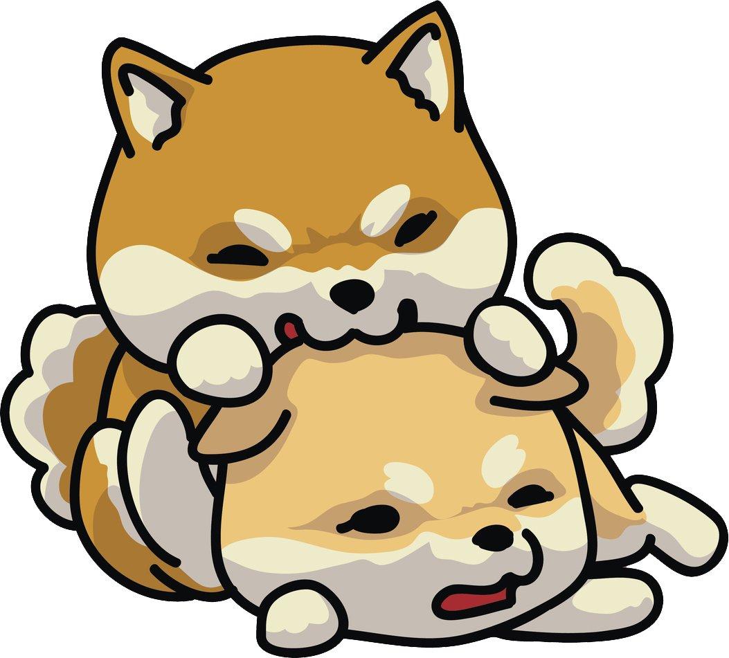 1053x951 Adorable Cute Kawaii Shiba Inu Fox Playmates Cartoon