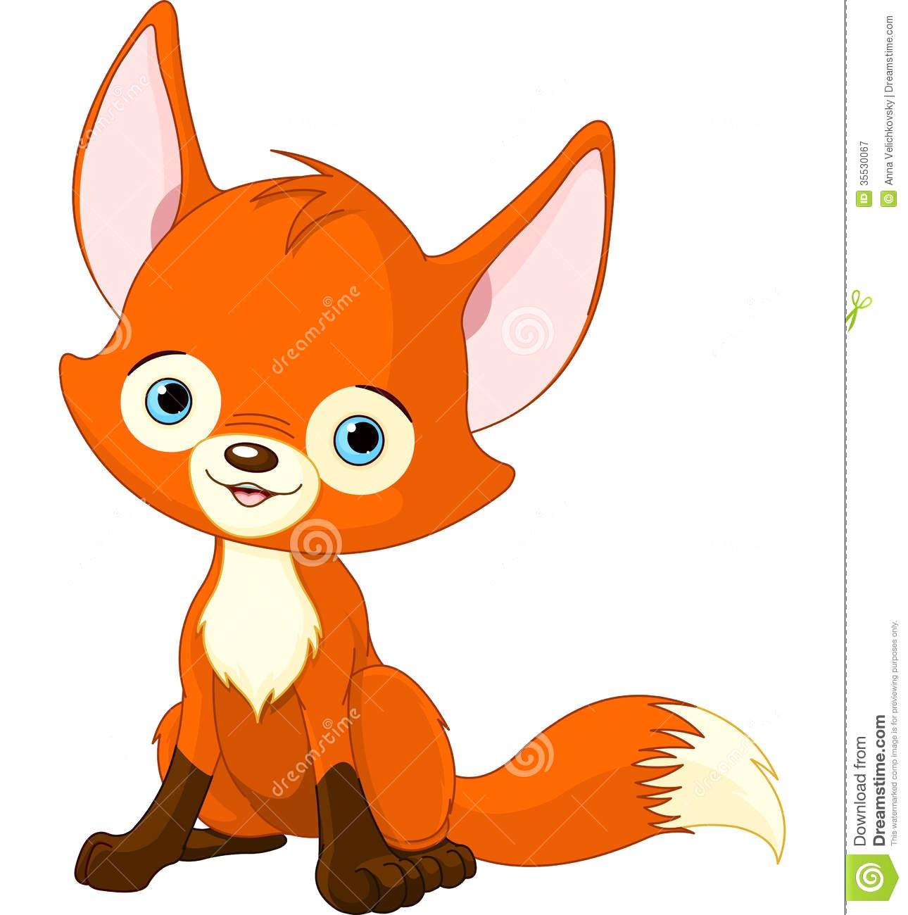 1290x1300 Cute Baby Fox Illustration Drawing
