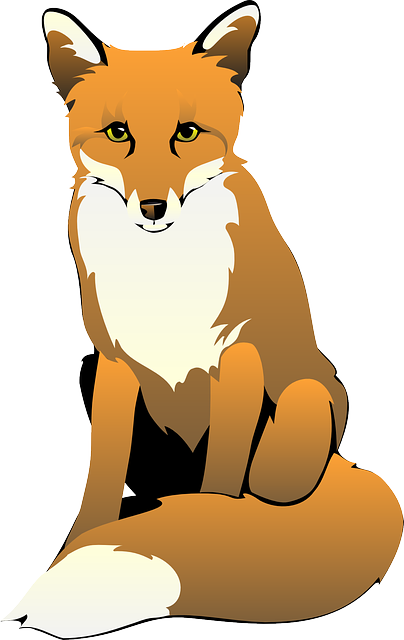 404x640 cute fox clipart free clipart images logo art fox drawing, fox