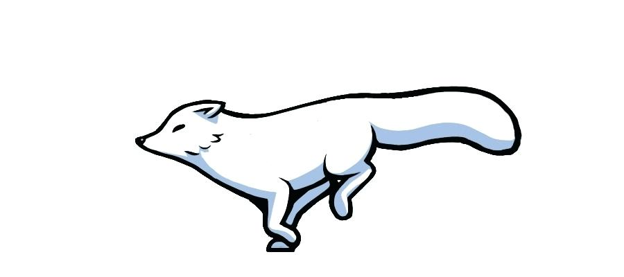 Arctic fox. Drawing images free download