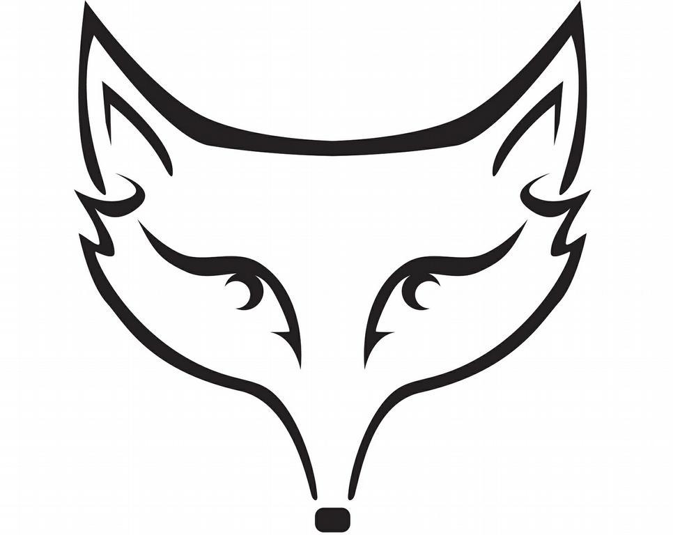 966x768 Fox Head Outline