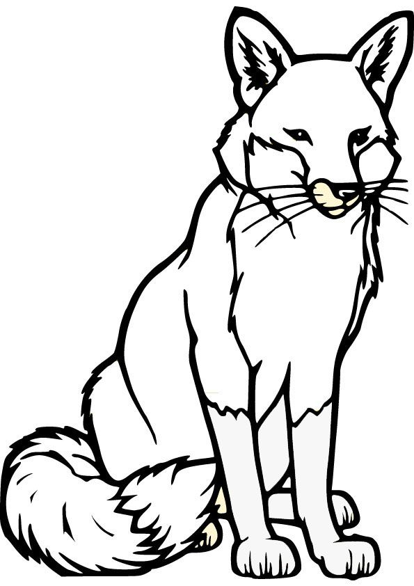 595x842 Outline Drawing Fox For Free Download