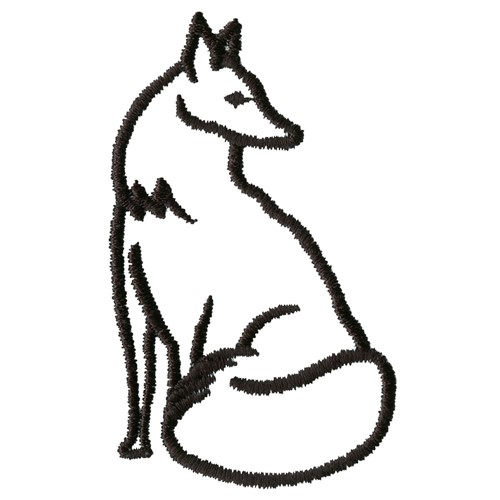 500x500 Fox Outline Embroidery Designs, Machine Embroidery Designs