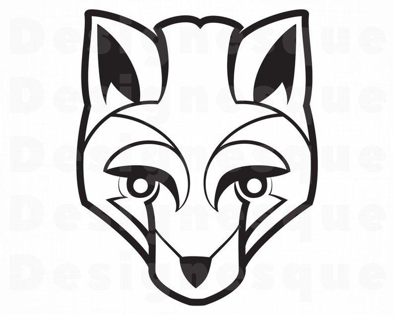 794x635 Fox Outline Fox Fox Clipart Fox For Cricut Etsy