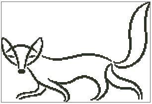 306x209 Fox Outline
