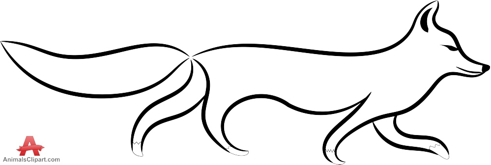 999x336 Fox Drawing Free Download