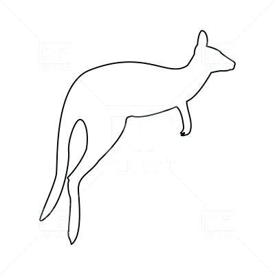 400x400 Kangaroo Outline Kangaroo Template Com Kangaroo Outline Drawing