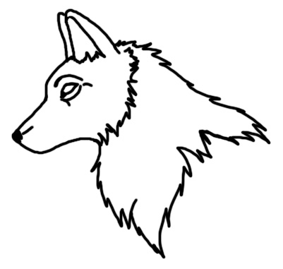 401x381 Wolf Outline Drawing