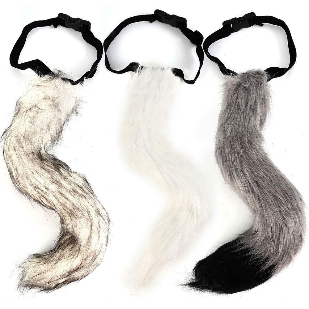 1000x1000 Faux Fur Fox Tail Halloween Cosplay Party Furry Wolf Dog Fox