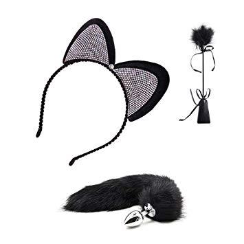 355x355 Lace Cat Ears Headbands Fox Tail Plug Toys Cosplay