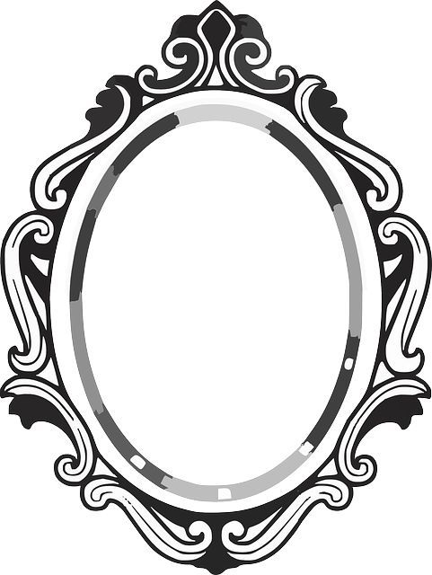 481x640 Line Drawing Mirror Frame