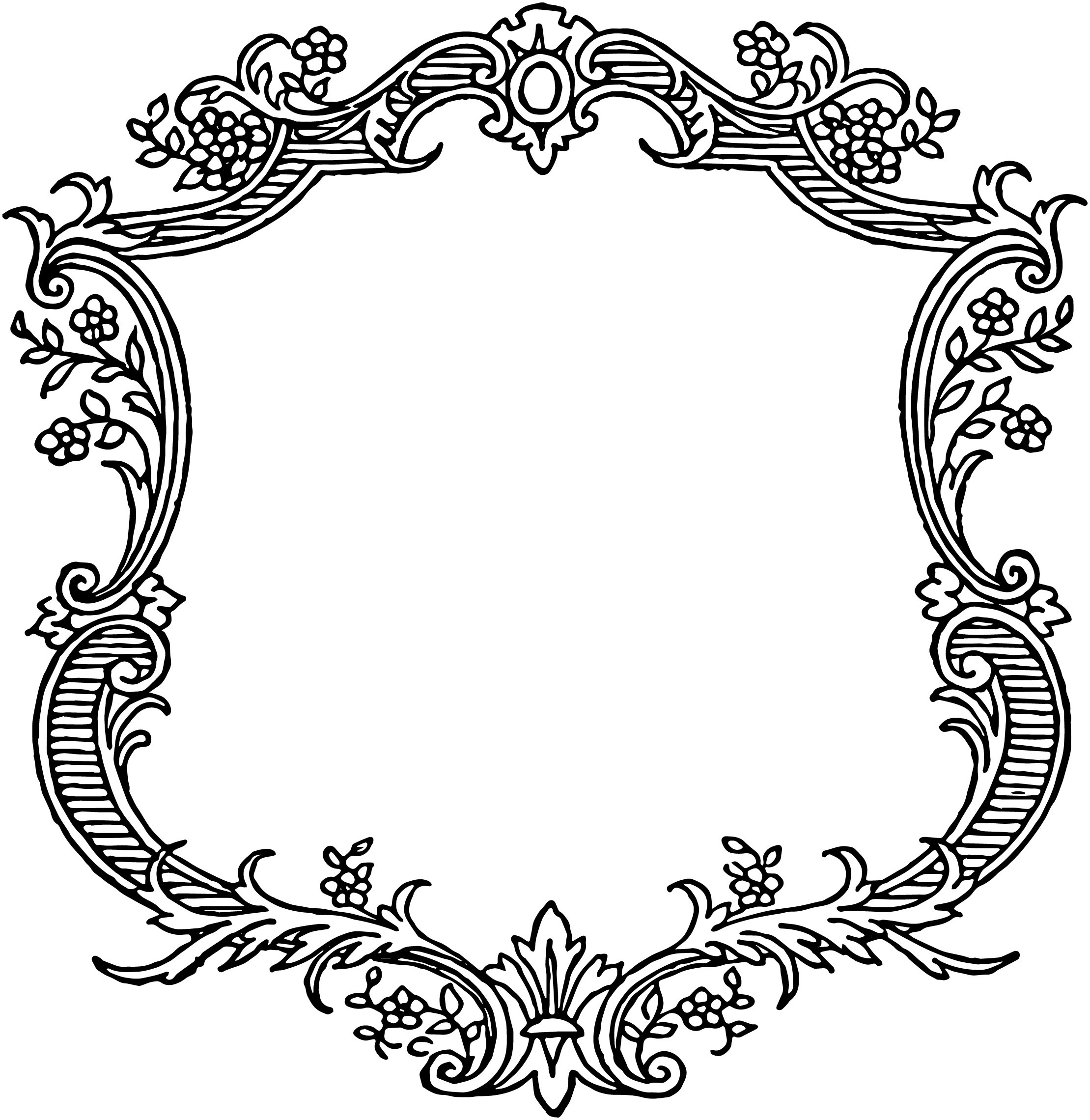 2219x2280 Antique Frame Drawing At Getdrawings Free For Personal Use