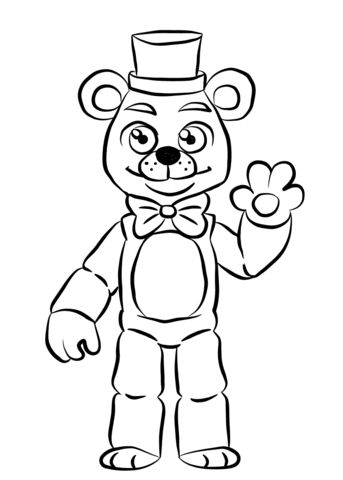 Freddy Fazbear Drawing | Free download on ClipArtMag