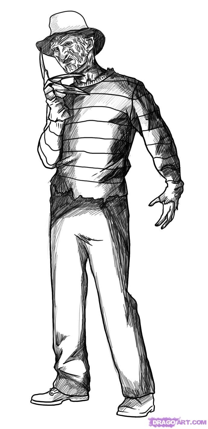 Freddy Krueger Hand Drawing   Free download on ClipArtMag