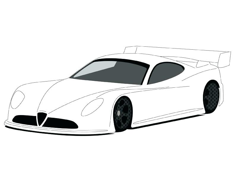 792x612 Car Drawing Template At Free For Personal Use Car Race Car