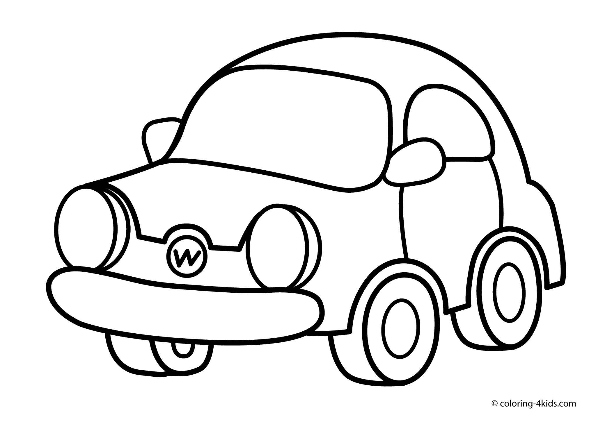 2079x1483 Drawing Coloring Car Cartoon For Free Coloring Pages