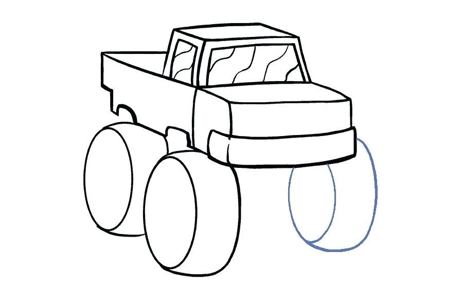 900x600 Car And Truck Drawings