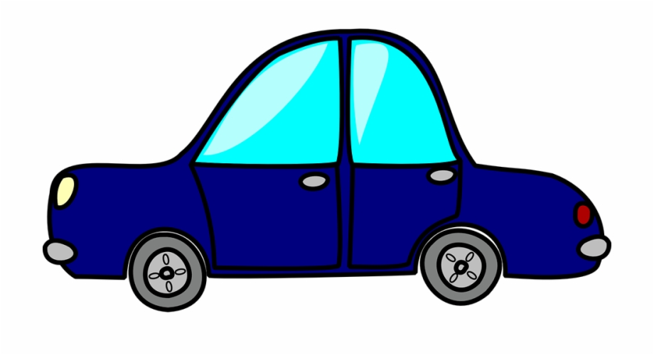 920x500 Car Blue Side Vehicle Drawing Cartoon