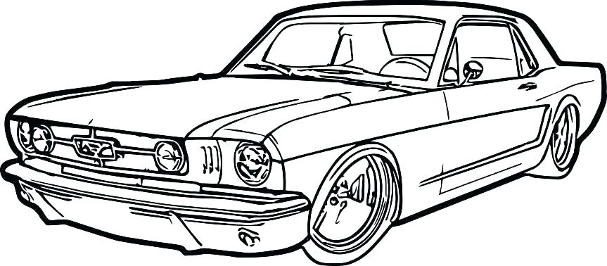 863x378 Car Coloring Pages Sports Car Drawing At Free For Personal Use