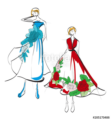 464x500 fashion illustration stylish fashion models fashion girl sketch