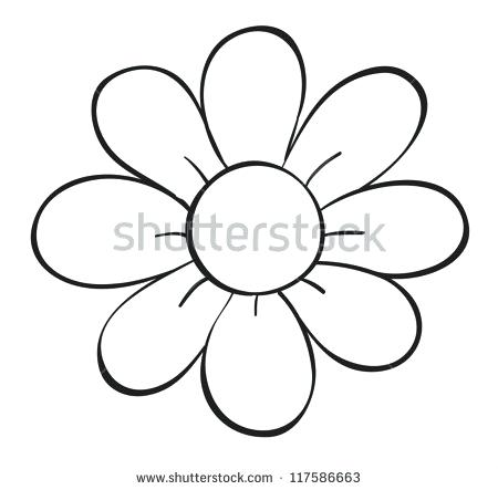 450x443 flower drawing outline stylized flower bquet hand drawing flower