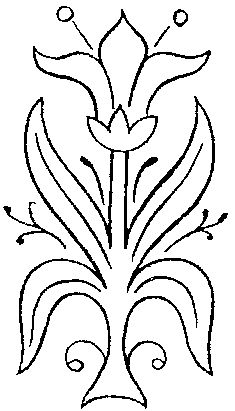 235x411 free embroidery pattern simple lily embroidery embroidery