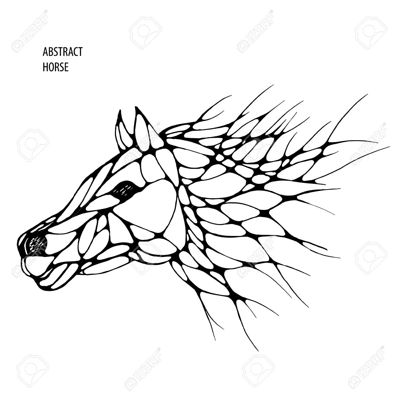 Abstract Art Horse Drawings