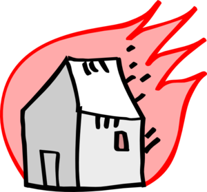300x279 Houses Drawing Burning Huge Freebie! Download For Powerpoint