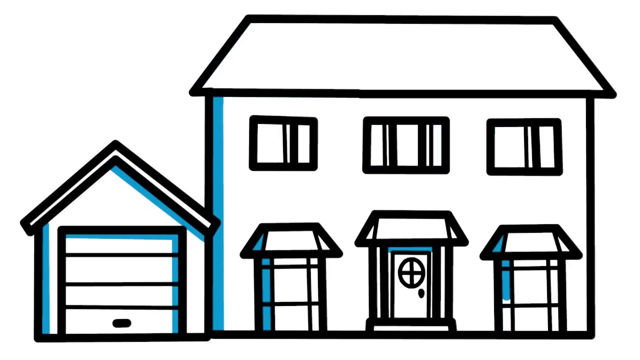 1280x720 House Drawing Free Download