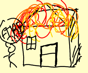 300x250 Huge Collection Of 'burning House Drawing' Download More Than