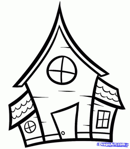 262x300 Clipart House Drawing Free Images