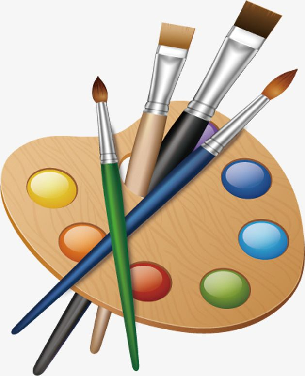 629x776 painting painting tools, tools clipart, painting, cartoon png