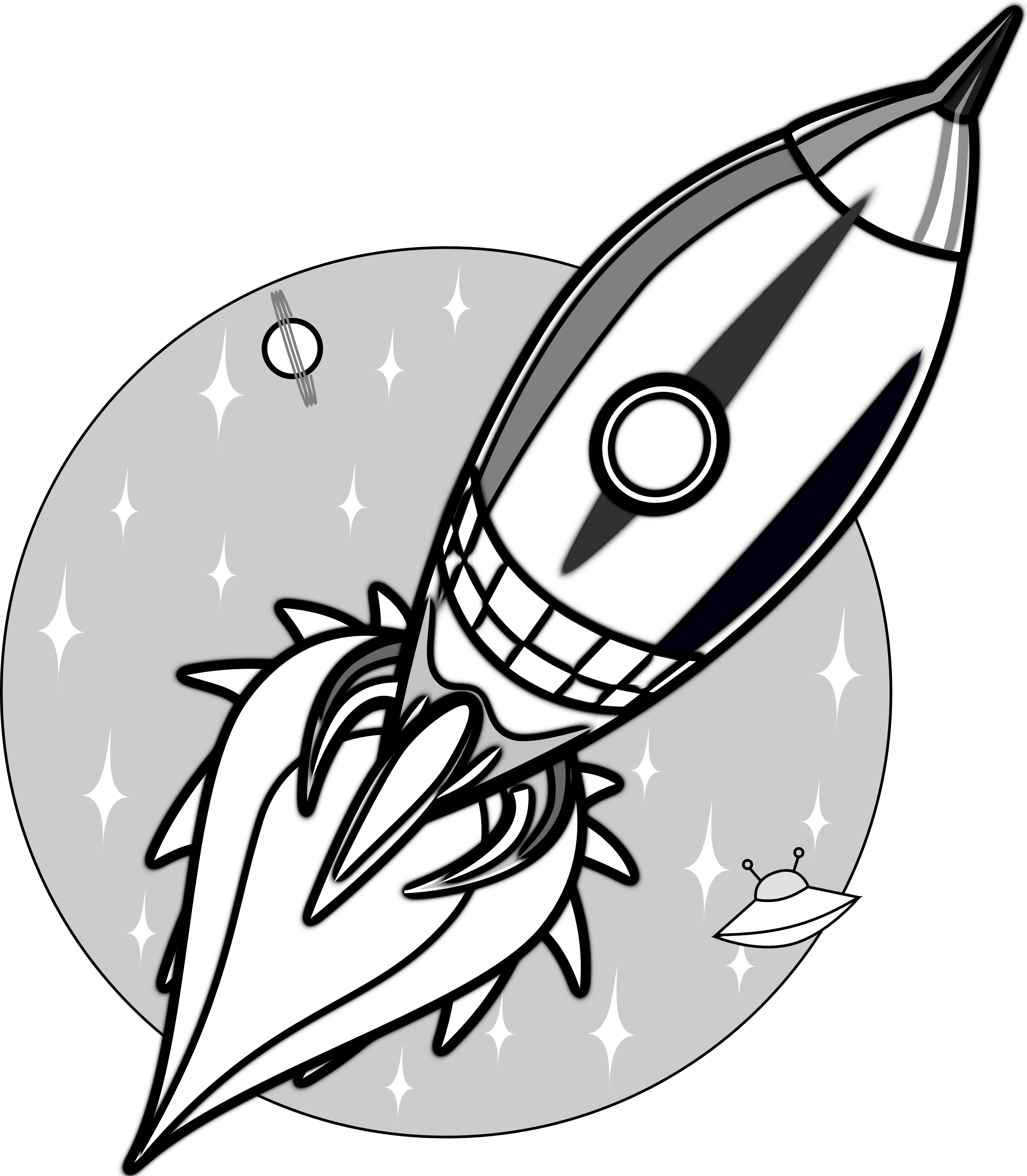 2555x2926 Collection Of Free Rocket Vector Line Drawing Download On Ui Ex