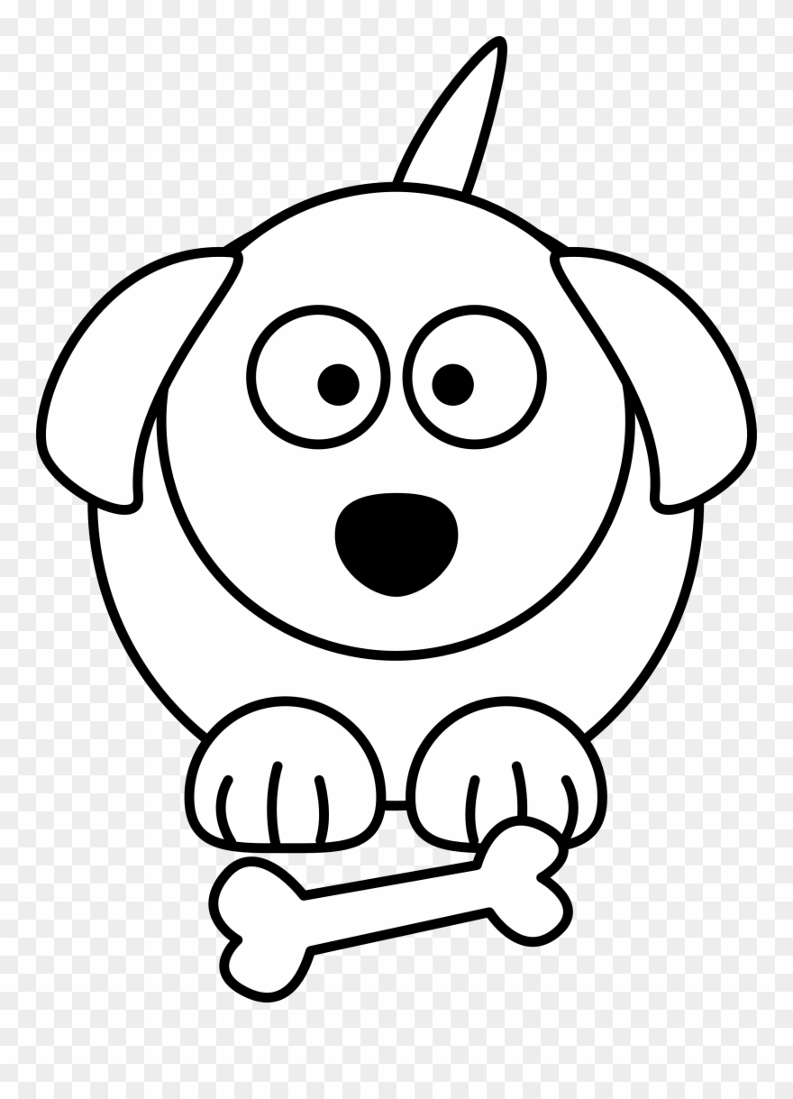 880x1219 Dog Black And White Black And White Dog Cartoon Free