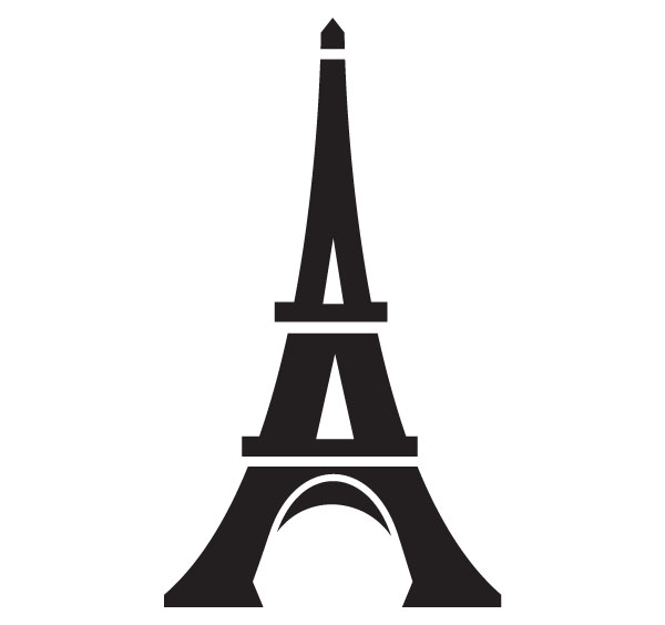600x564 Eiffel Tower Line Drawing Clipart Free Clip Art Images Image
