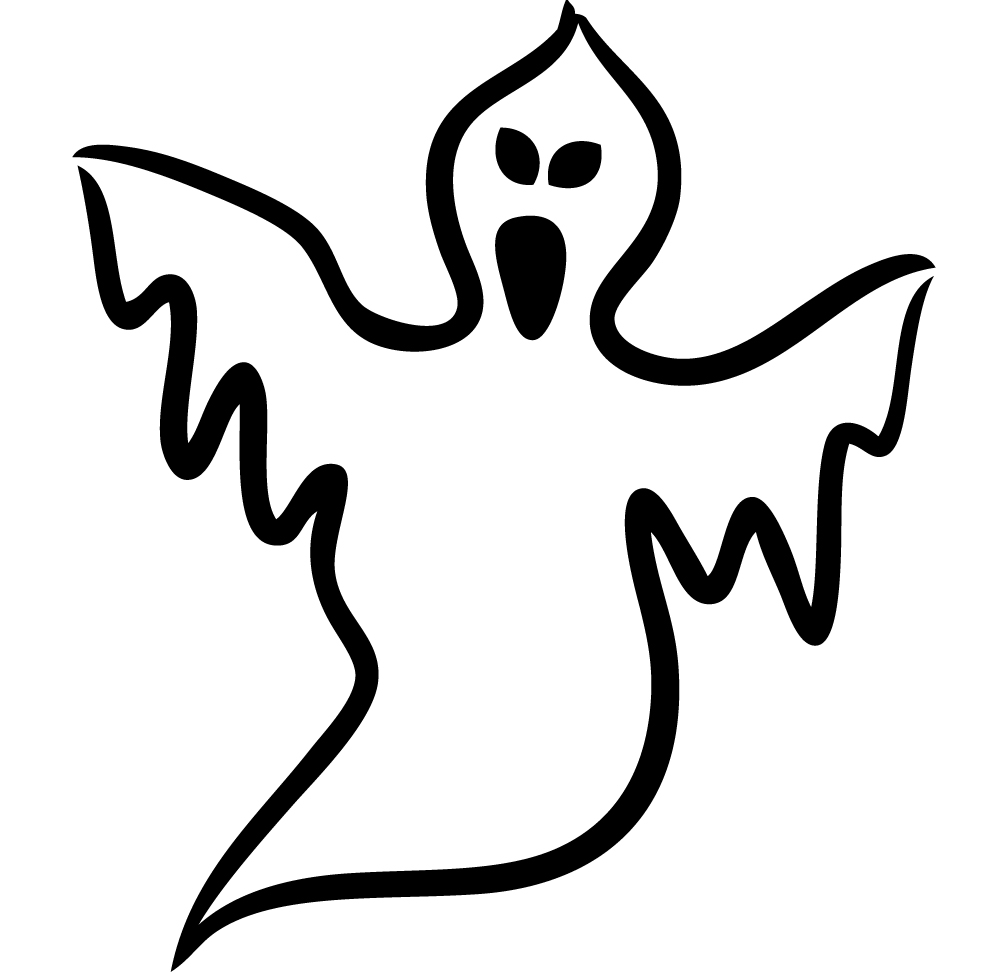 1000x974 Ghost Clipart Line Drawing