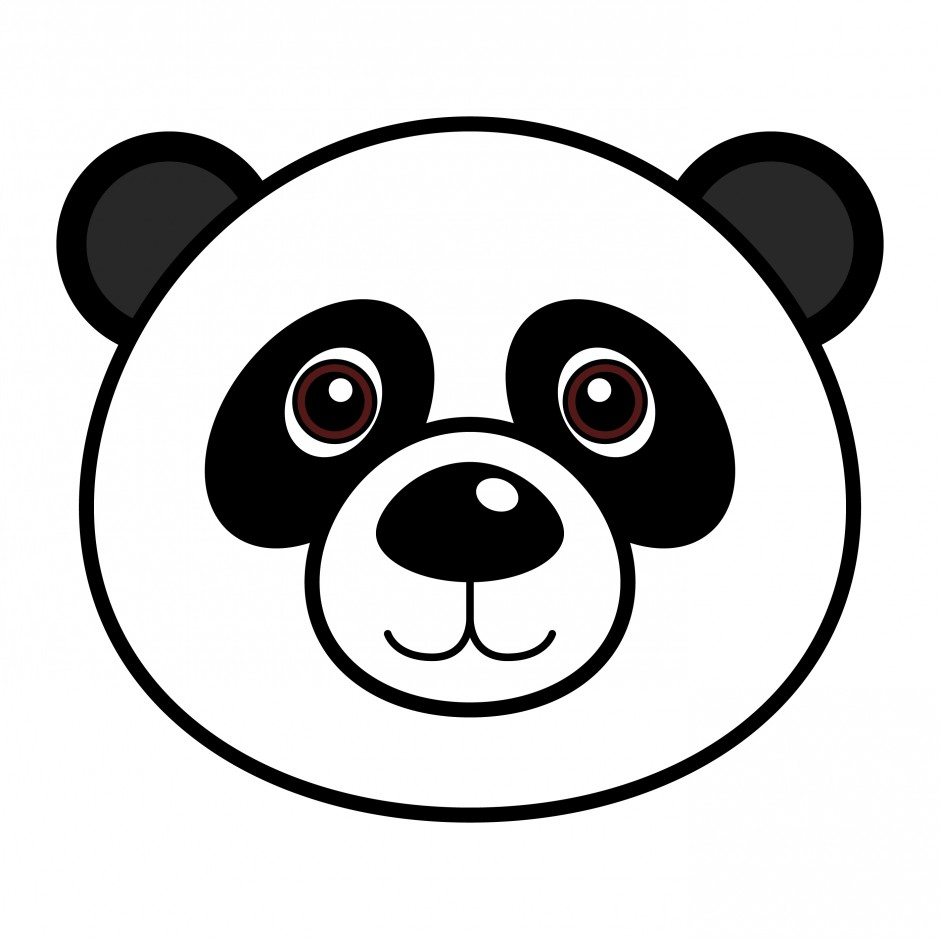 940x939 Panda Line Drawing Clipart